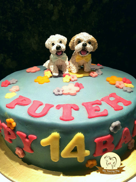 Custom Figurine Dog Cakes - The Snoring Dog Gourmet Dog Bakery and Dog Cakes - 16