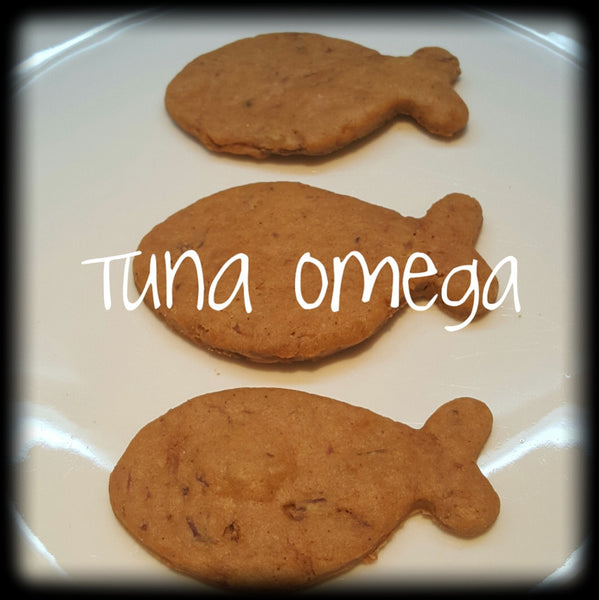 Tuna Fishy Crackers (Grain Free Dog Cookies) - The Snoring Dog Gourmet Dog Treats and Dog Cakes