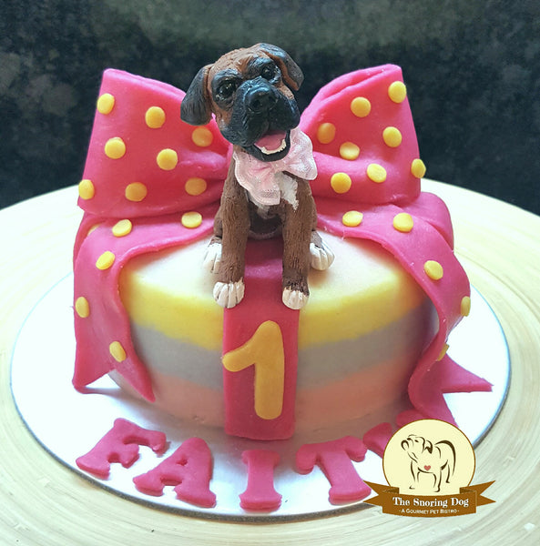 Custom Figurine Dog Cakes - The Snoring Dog Gourmet Dog Treats and Dog Cakes