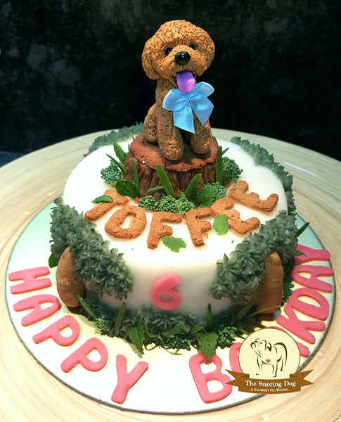 Custom Figurine Dog Cakes - The Snoring Dog Gourmet Dog Bakery and Dog Cakes