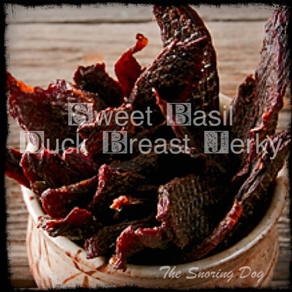 Sweet Basil Duck Dog Treat - The Snoring Dog Gourmet Dog Treats and Dog Cakes