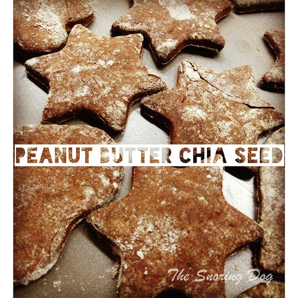 Peanut Butter Chia Seeds Honey Pooch (Gluten Free) Dog Cookies - The Snoring Dog Gourmet Dog Treats and Dog Cakes