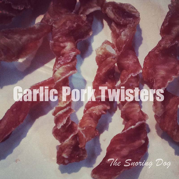 Garlic Pork Twisters Dog Treat - The Snoring Dog Gourmet Dog Bakery and Dog Cakes