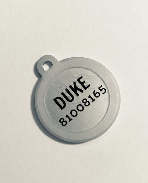 Funny personalised pet tags for cats and dogs with a personality.