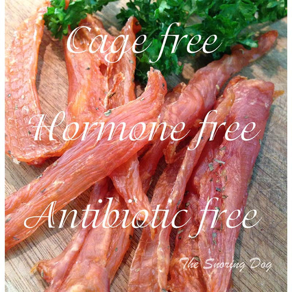Cage Free Hormone Free Antibiotic Free French Poulet Dog Treats - The Snoring Dog Gourmet Dog Treats and Dog Cakes
