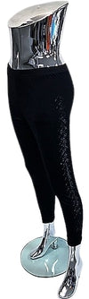 A21463-1 - Legging Bling -Black w/ Clear Stones
