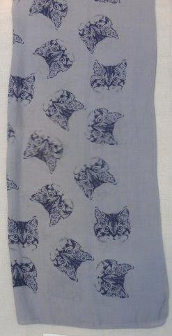 SC4991   -   Scarf  Cat - Grey