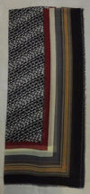 "SSC5059   -   Scarf  70"" Long - Bk/Brown"