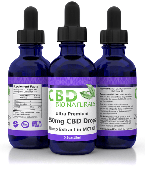 CBD Bio Naturals Ultra Premium CBD in MCT Oil (250mg)