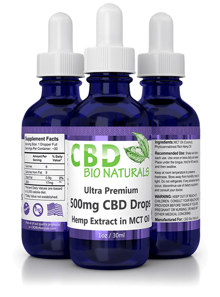 CBD Bio Naturals Ultra Premium CBD in MCT Oil (500mg)