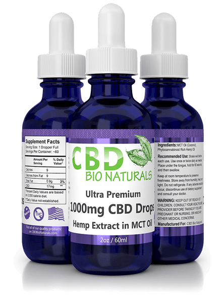 CBD Bio Naturals Ultra Premium CBD in MCT Oil (1000mg)