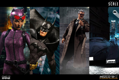 Mezco Toyz Reveals Batman Day Exclusive Catwoman, Batman: Sovereign Knight, Commissioner Gordon and Batmobile!