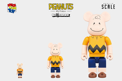 Medicom Toy Bearbrick - 100% | 400% | 1000% Be@rbrick - Peanuts Charlie Brown Figure