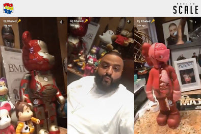 Check out DJ Khaled's Rare Medicom Be@rbrick Collection!
