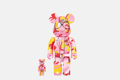 Medicom Toy Bearbrick - 400% + 100% Be@rbrick Set - Andy Warhol Camouflage
