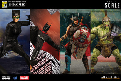 SDCC 2017 Preview Night: Mezco Toyz One:12 Collective - Catwoman, Batman Beyond, Thor Ragnarok, Hulk