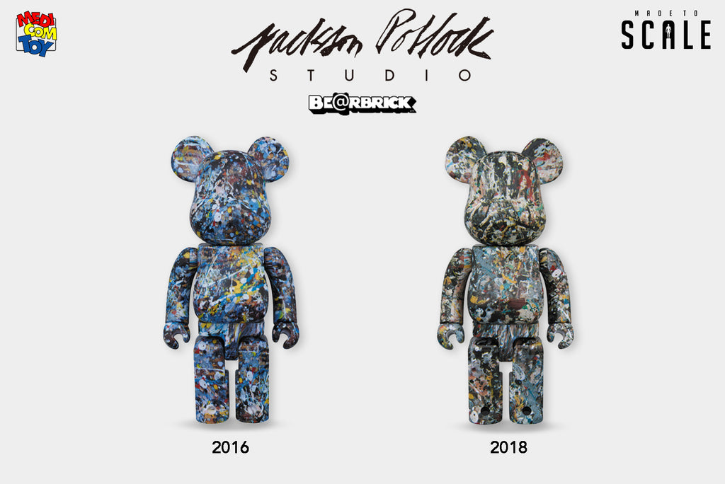 A Look at the Latest Medicom Toy x Jackson Pollock Be@rbrick - Release Date: Fall 2018