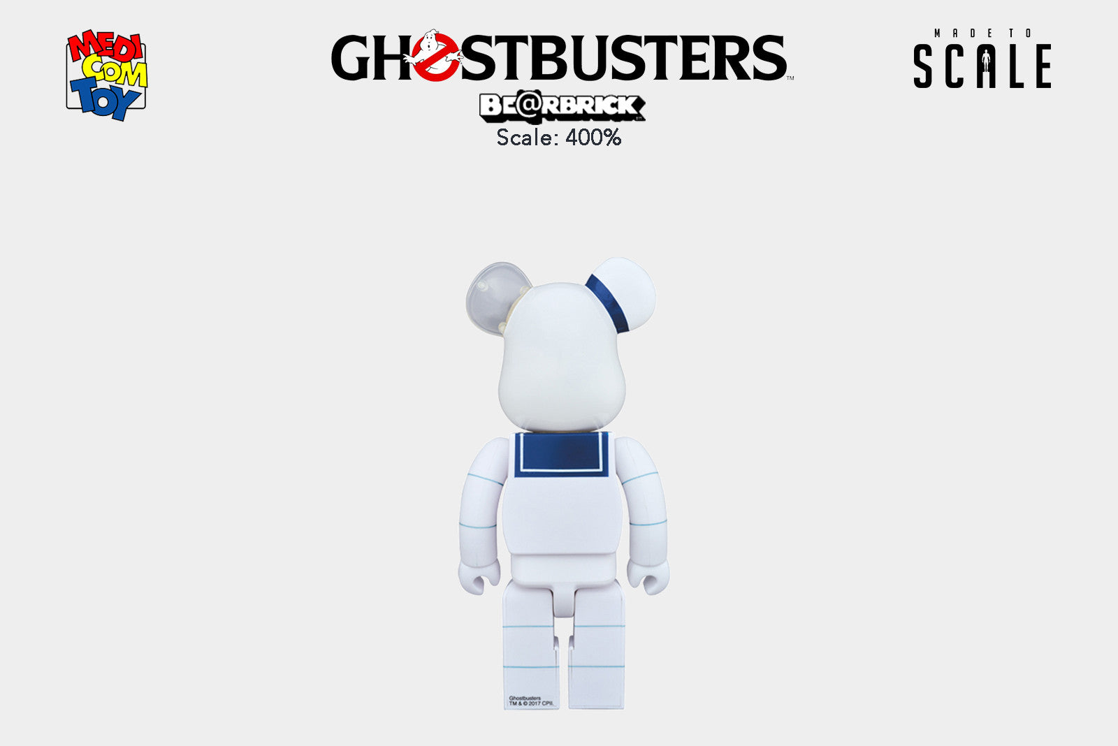 Medicom Toy Be@rbrick - 400% Bearbrick - Ghostbusters Stay Puft Marshmallow Man - Release Date: Winter 2017