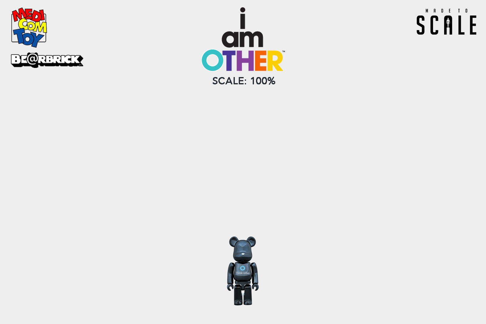 Medicom Toy - I Am Other (Think Other) Black Bearbrick 100% | 400% - Release Date: Spring 2018