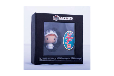 Funko Grand Opening Exclusives - White Knight Freddy Pint Size Hero & Commemorative Pin Set