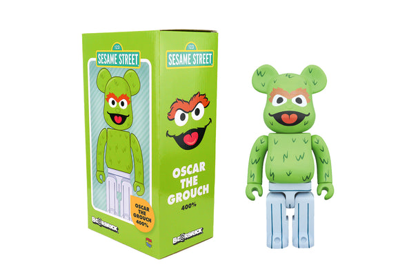 Medicom Toy 400% Bearbrick - Sesame Street Oscar the Grouch Be@rbrick