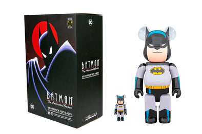 Medicom Toy 100% + 400% Bearbrick Set Batman: The Animated Series Be@rbrick