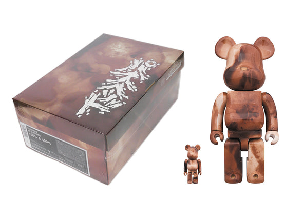 Medicom Toy 100% + 400% Bearbrick Set - Pushead Brown Water (Marble)