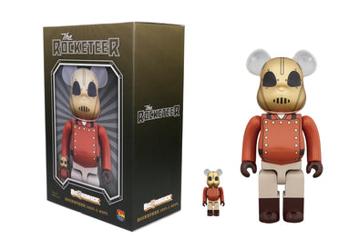 Medicom Toy 100% + 400% Bearbrick Set The Rocketeer Be@rbrick