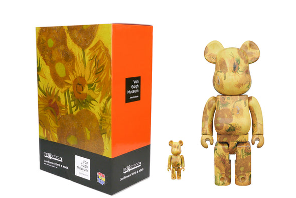 Medicom Toy 100% + 400% Bearbrick Set Vincent Van Gogh: Sunflowers Be@rbrick