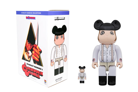Medicom Toy 100% + 400% Bearbrick - A Clockwork Orange: Alex DeLarge Be@rbrick