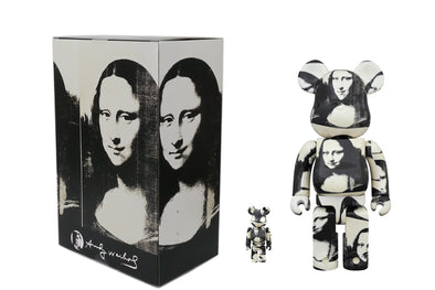 Medicom Toy 100% + 400% Bearbrick Set Andy Warhol Double Mona Lisa Be@rbrick