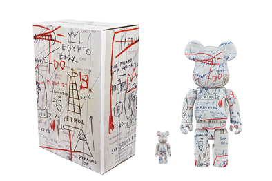 Medicom Toy 100% + 400% Bearbrick Set - Jean-Michel Basquiat Ver 2.0