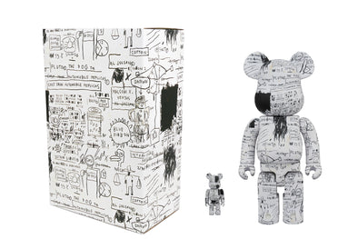 Medicom Toy 100% + 400% Bearbrick Set - Jean-Michel Basquiat Ver 3.0 Be@rbrick