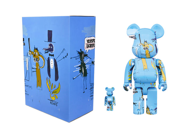Medicom Toy 100% + 400% Bearbrick Set - Jean-Michel Basquiat Ver 4.0 Be@rbrick
