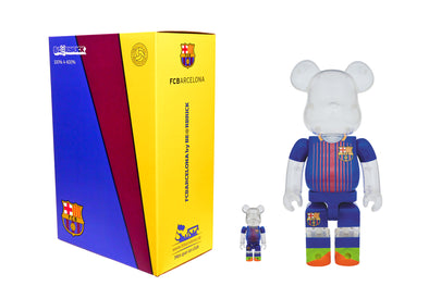 Medicom Toy 100% + 400% Bearbrick Set - FC Barcelona Be@rbrick