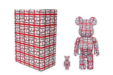 Medicom Toy 100% + 400% Bearbrick Set - Have A Good Time Be@rbrick