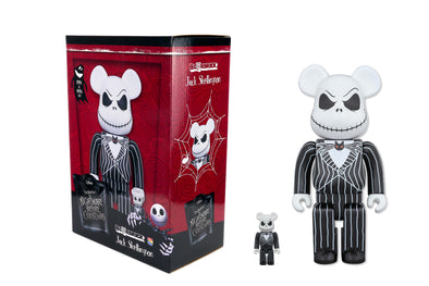 Medicom Toy 100% + 400% Bearbrick Set - The Nightmare Before Christmas Jack Skellington Be@rbrick Figure