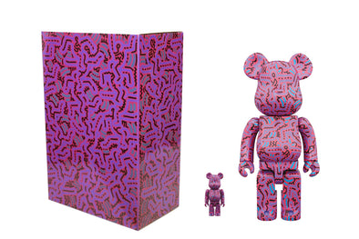 Medicom Toy 100% + 400% Bearbrick Set - Keith Haring Ver 2.0