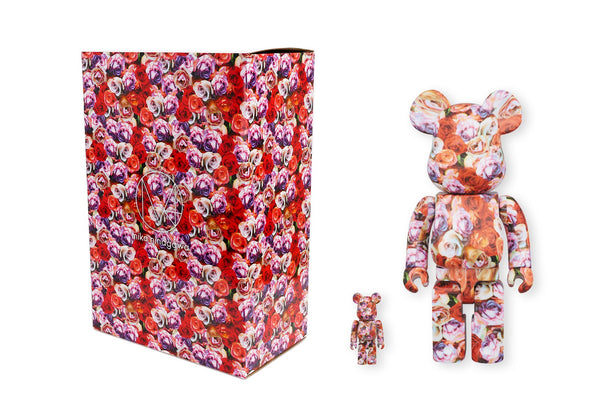Medicom Toy 100% + 400% Bearbrick Set - Mika Ninagawa Rose Be@rbrick Figure