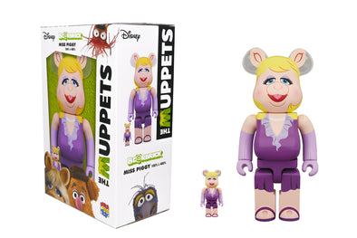 Medicom Toy 100% + 400% Bearbrick Set - The Muppets: Miss Piggy Be@rbrick