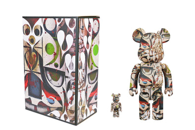 Medicom Toy 100% + 400% Bearbrick Set - Phil Frost Be@rbrick
