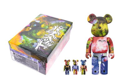 Medicom Toy 100% + 400% Bearbrick Set - Pushead 3 Different Colors (4 Piece)