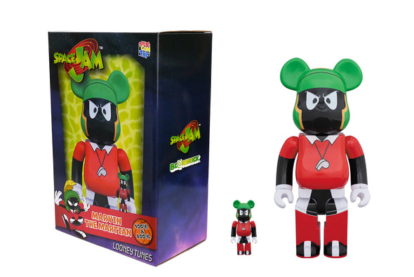 Medicom Toy 100% + 400% Bearbrick Set - Space Jam: Marvin The Martian Be@rbrick
