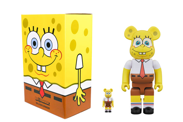 Medicom Toy 100% + 400% Bearbrick Set - Nickelodeon's SpongeBob SquarePants