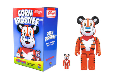 Medicom Toy 100% + 400% Bearbrick Set - Kellogg's Tony The Tiger Be@rbrick