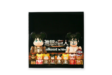 Medicom Toy 100% Bearbrick Attack on Titan Keychain Sealed Full Case (20 Blind Boxes) Be@rbrick Figure