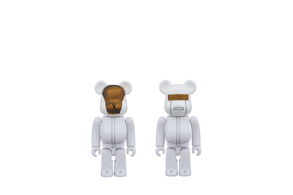 100% Bearbrick Set - Daft Punk (White Suits)