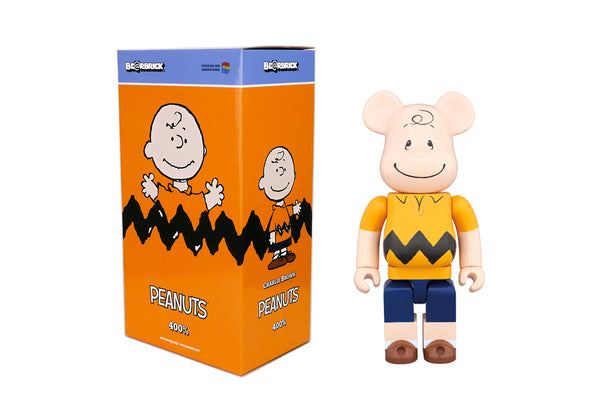 Medicom Toys 400% Be@rbrick - Peanuts Charlie Brown (Yellow) Bearbrick Figure