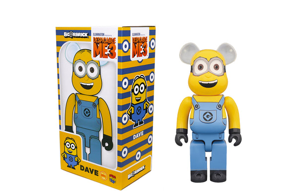 Medicom Toy 400% Bearbrick - Despicable Me 3 Dave The Minion Be@rbrick