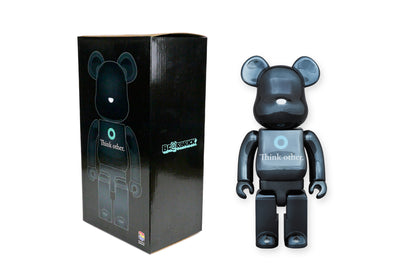 Medicom Toy 400% Bearbrick - I Am Other (Think Other) Black Be@rbrick